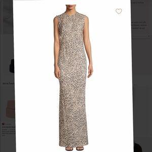 NWT Rebecca Vallance leopard print maxi dress